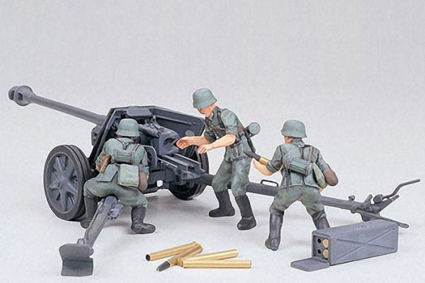 Tamiya German 75mm Anti Tank Gun Kit CA147 1-35 Scale 35047
