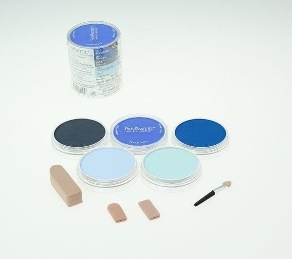 Panpastel 5 Pack Colours Blues Set 30055