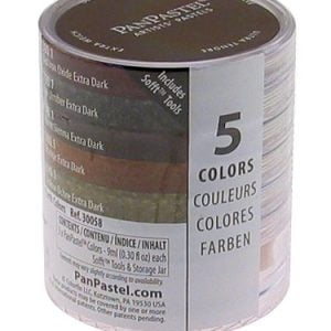 Panpastel 5 Pack Colours Extra Dark Earth Colours Set 30058