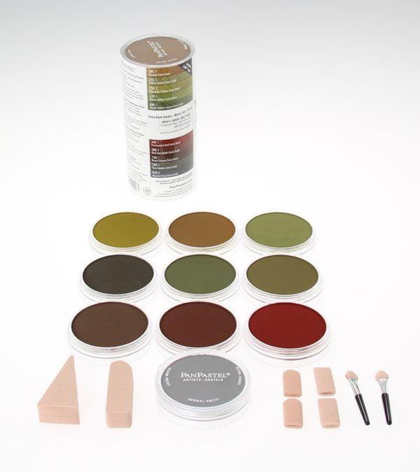 Panpastel 10 Pack Colours Extra Dark Warm Shades Set 30105