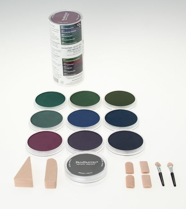 Panpastel 10 Pack Colours Extra Dark Cool Shades Set 30106