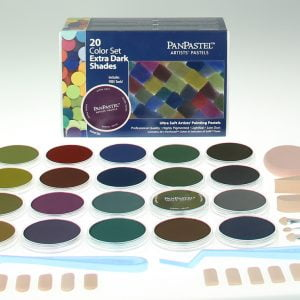 Panpastel 20 Pack Colours Extra Dark Shades Set 30207