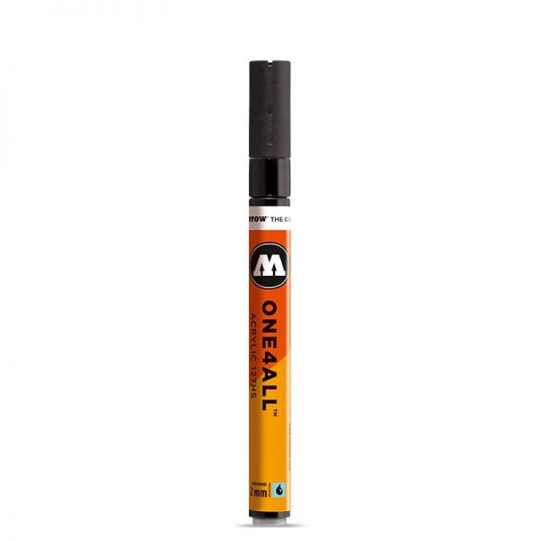 MOLOTOW 2mm Metallic Black Acrylic Paint Marker ONE4ALL 127HS 127301