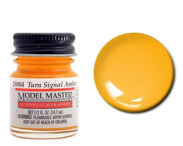 Model Master Auto Lacquer Paints Turn Signal Amber 28004