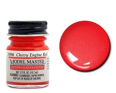 Model Master Auto Lacquer Engine Red Chevy 28006