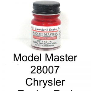 Model Master Auto Lacquer Engine Red Chrysler 28007