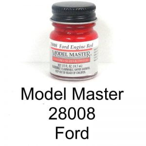 Model Master Auto Lacquer Engine Red Ford 28008