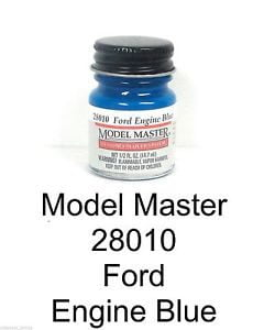 Model Master Auto Lacquer Engine Blue Ford and GM 28010