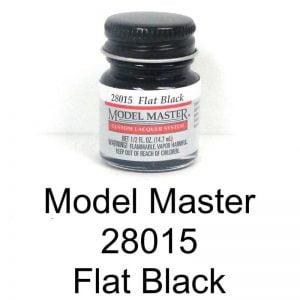 Model Master Auto Lacquer Flat Black 28015