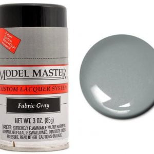 Model Master Spray Auto Lacquer Fabric Gray Grey 28135