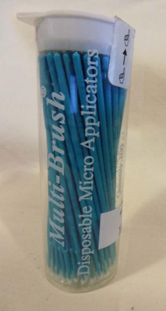 Medium Teal Hobby Brush by Denbur MHF100 Pack of 100