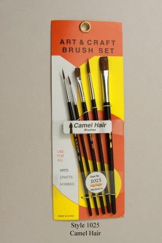 Atlas 5 Piece Camel Hair Brush Set 1 3 5 1/4 1/2 Style 1025