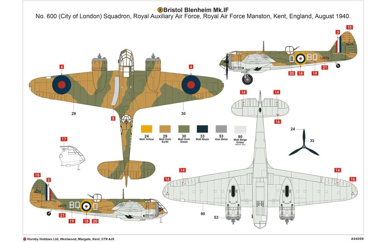 Airfix Bristol Blenheim Mk.If 1:72 A04059 • Online ...