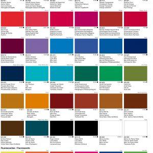 Vallejo Acrylic Artist Fluid Colours Chart