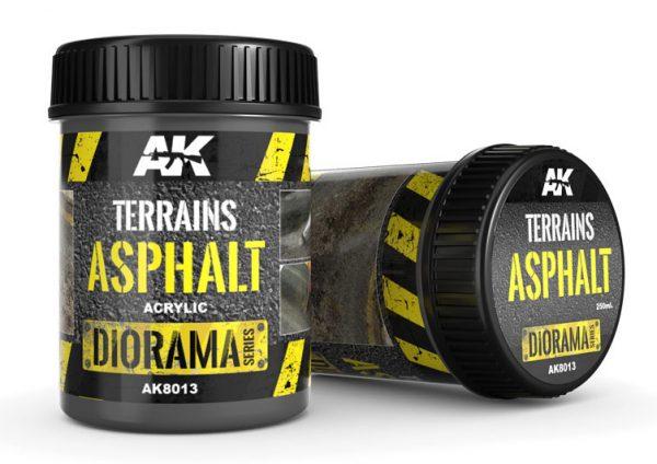 AK interactive Diorama terrains asphalt 250ML 8013