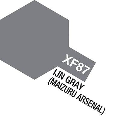 Tamiya Acrylic Paints XF87 XF-87 81787 IJN Gray Grey Maizuru Arsenal
