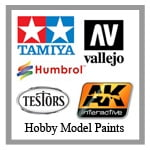 hobby model paints from Sunward Hobbies