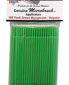 Microbrushes Regular Green 100 Pack by Alpha Abrasives ALB 1352