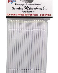 Microbrushes SuperFine White 100 Pack by Alpha Abrasives ALB 1353
