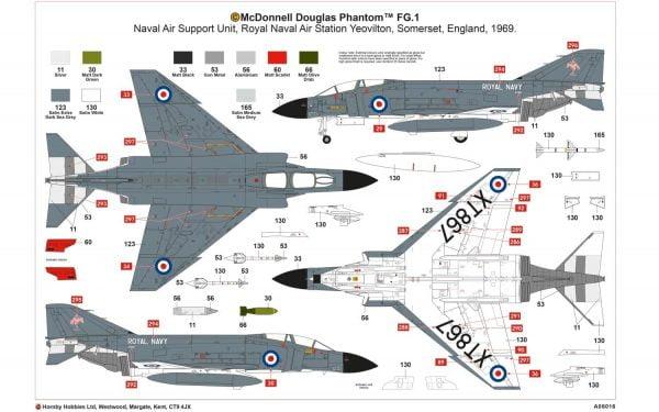 Airfix McDonnell Douglas FG.1 Phantom 1:72 A06016