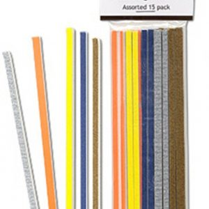 Alpha Abrasives Mini Hobby and Craft Sanding Sticks Assorted 0101