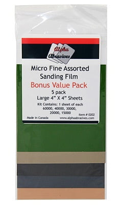Alpha Abrasives Micro Fine Assorted Sanding Film 202
