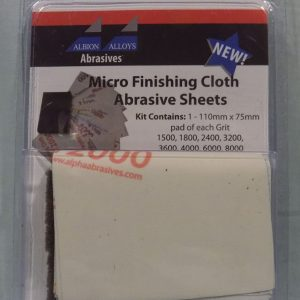 Alpha Abrasives Micro Finishing Cloth Abrasive Sheets 9 Sheet Pack 2050A