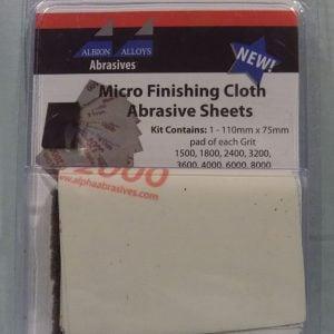 Alpha Abrasives Micro Finishing Cloth Abrasive Sheets 9 Sheet Pack 2050A