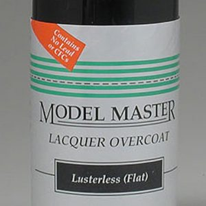 Model Master Lusterless Flat Lacquer Clear Coat 1960