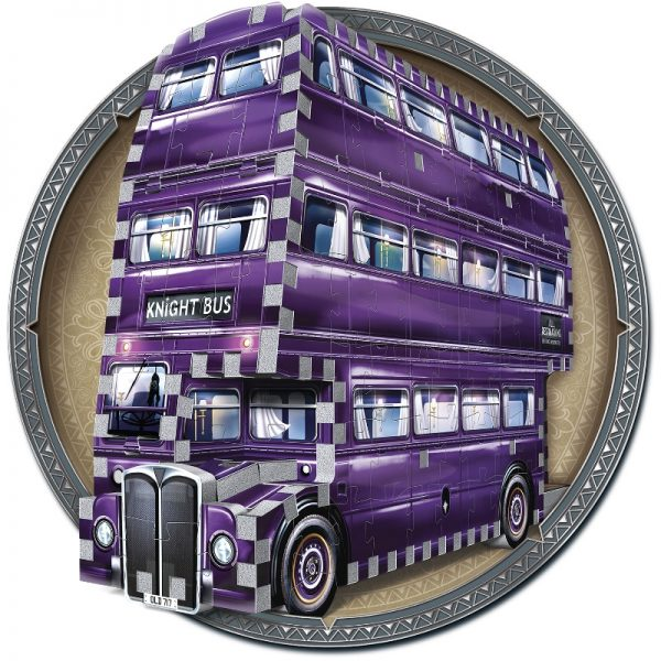 The Knight Bus 3D Jigsaw Puzzle Made by Wrebbit Puzzles 280 Pieces