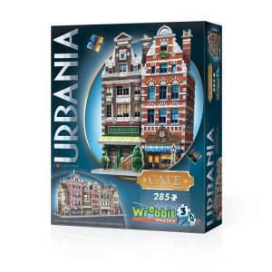 Urbania Café 3D Jigsaw Puzzle Made by Wrebbit Puzzles 285 Pieces