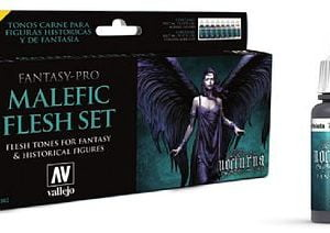 Vallejo Fantasy Pro Malefic Flesh Set of 8 74102