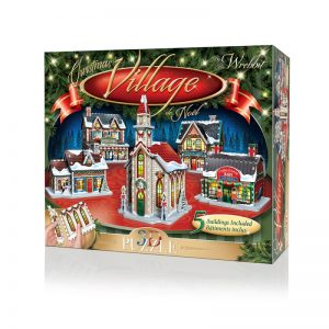 Christmas Village 3D Jigsaw Puzzle Made by Wrebbit Puzzles 116 Pieces