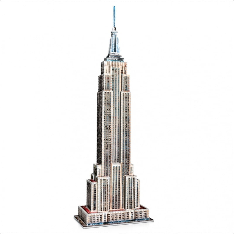 Empire State Building 3D Jigsaw Puzzle Made By Wrebbit Puzzles 975 Pieces
