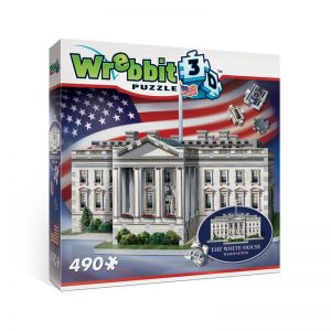 The White House 3D Jigsaw Puzzle Made by Wrebbit Puzzles 490 Pieces