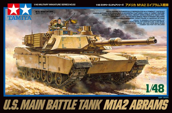 BOX Tamiya M1A2 Abrams Tank 1:48 Kit 32592