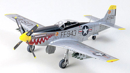 Tamiya N.A. F-51 Mustang Korean War 1:72 Scale Model Kit 60754