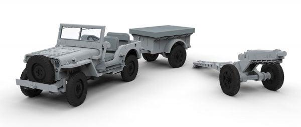 Airfix Willys British Airborne Jeep 1:72 A02339