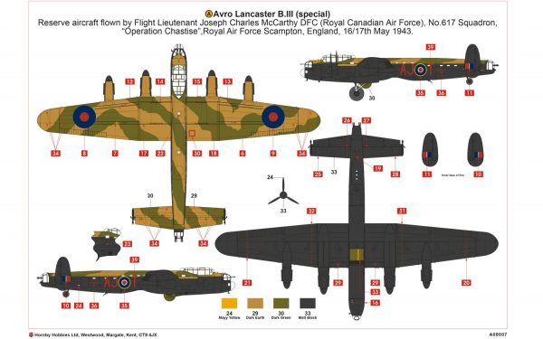 a layout Airfix Avro Lancaster B.III Special The Dambusters 1:72 A09007