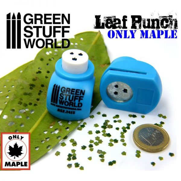 Miniature Leaf Punch MEDIUM BLUE by Green Stuff World 1415