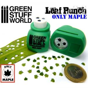Miniature Leaf Punch MEDIUM GREEN by Green Stuff World 1414