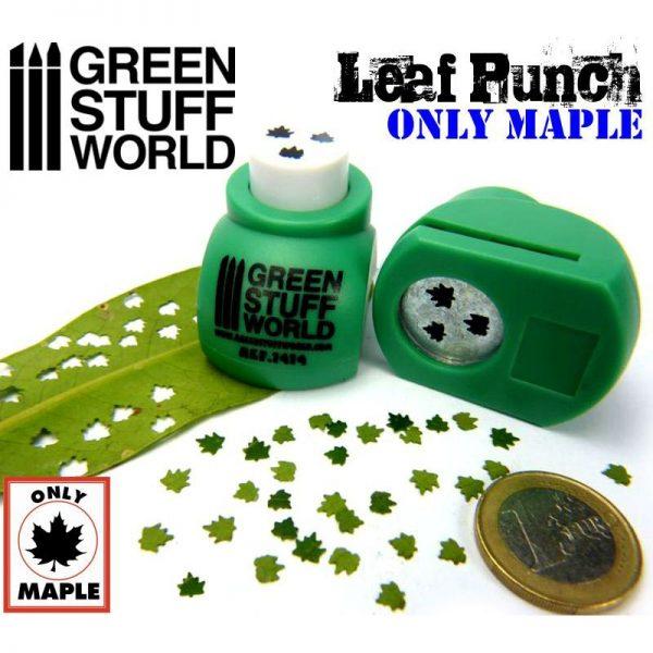 Miniature Leaf Punch MEDIUM GREEN by Green Stuff World 1414