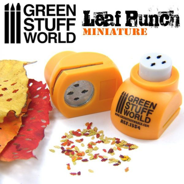 Miniature Leaf Punch ORANGE Green Stuff World 1354