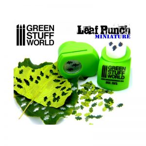 Miniature Leaf Punch LIGHT GREEN by Green Stuff World 1312