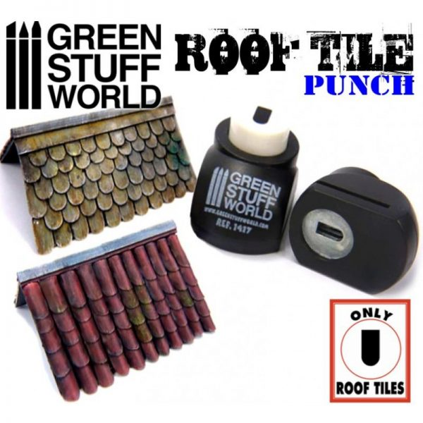 Miniature ROOF TILE Punch Green Stuff World 1417