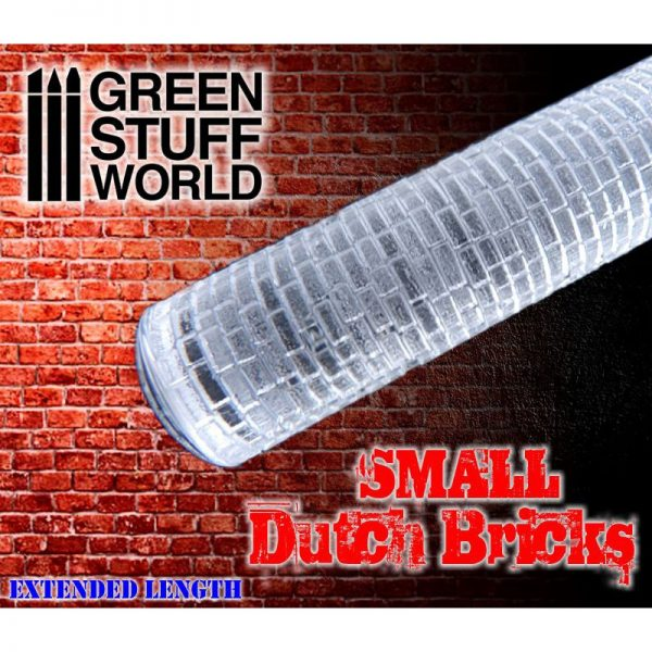 Rolling Pin Small DUTCH Bricks Green Stuff World 1660