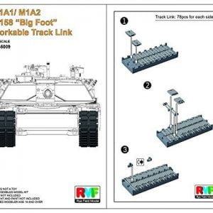 Rye Field Model 1/35 M1A1/ M1A2 T-158 Big Foot Workable Track Link 5009