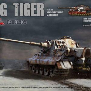 Takom King Tiger Sd.Kfz.182 Henschel Turret with Zimmerit 1:35 2047