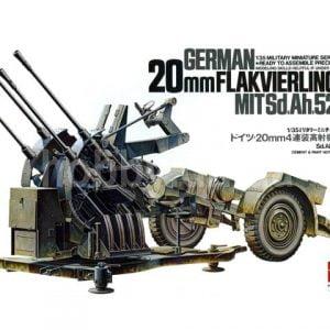 Tamiya 20mm Flakvierling 38 MITSd.Ah.52 35091