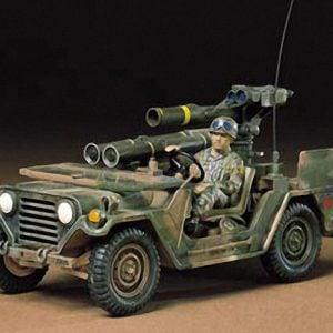 Tamiya U.S. M151A2 w/Tow Launcher Kit CA225 35125